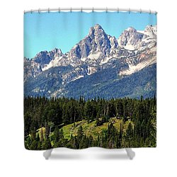 Towering Teton Range  Shower Curtain