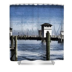 Towers And Masts Shower Curtain by Roberta Byram