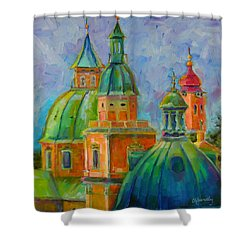 Towers Of Salzburg Shower Curtain