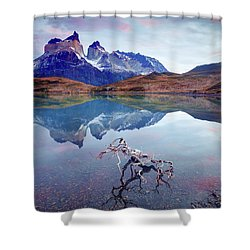Towers Of The Andes Shower Curtain by Phyllis Peterson