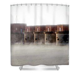 Towers Rising Shower Curtain