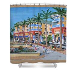 Town Center Abacoa Jupiter Shower Curtain by Marilyn Dunlap