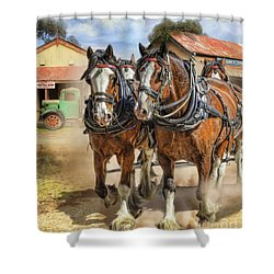 Town Day Shower Curtain