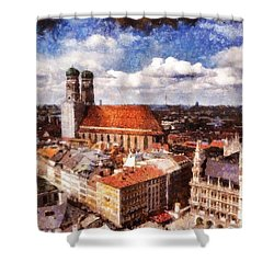 Town Hall. Munich Shower Curtain