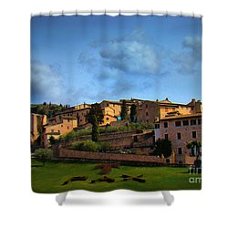 Town Of Assisi, Italy II Shower Curtain