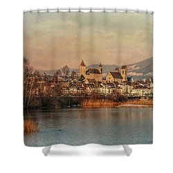 Shower Curtain featuring the photograph Town Of Roses by Hanny Heim
