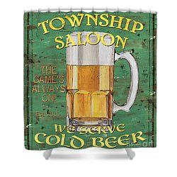 Township Saloon Shower Curtain by Debbie DeWitt