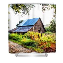 Townville Barn Shower Curtain