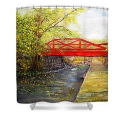 Towpath In New Hope Shower Curtain