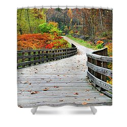 Towpath In Summit County Ohio Shower Curtain by Kristin Elmquist