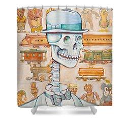 Toy Bones Shower Curtain