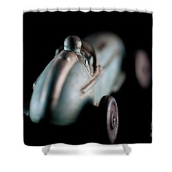 Shower Curtain featuring the photograph Toy Race Car by Wilma Birdwell