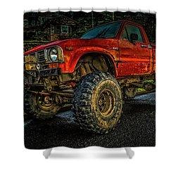 Toyota Grunge Shower Curtain