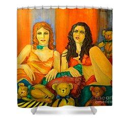 Toys Shower Curtain by Dagmar Helbig