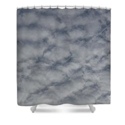 Trace Of Airplane Shower Curtain by Jean Bernard Roussilhe
