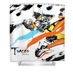 Tracer Overwatch Shower Curtain by Haze Long