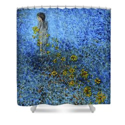 Traces Sunflowers Lost Shower Curtain by Nik Helbig