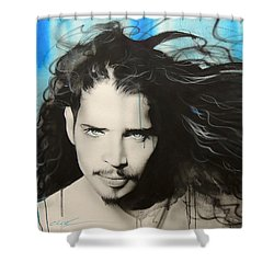 Track 12 Shower Curtain