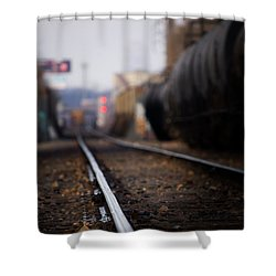 Track Life Shower Curtain