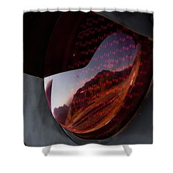 Shower Curtain featuring the photograph Track Reflections by Colleen Coccia