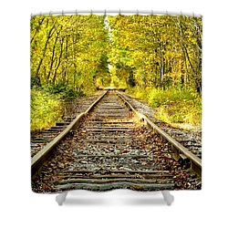 Track To Nowhere Shower Curtain by Greg Fortier
