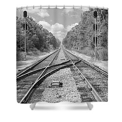 Shower Curtain featuring the photograph Tracks 2 by Mike McGlothlen