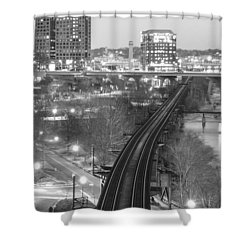 Tracks Into The City Shower Curtain
