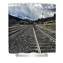 Shower Curtain featuring the photograph Tracks by JoAnn Lense