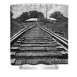 Shower Curtain featuring the photograph Tracks by Mike McGlothlen