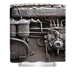 Shower Curtain featuring the photograph Tractor Engine II by Stephen Mitchell