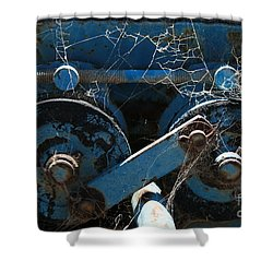 Shower Curtain featuring the photograph Tractor Engine IIi by Stephen Mitchell
