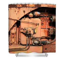 Shower Curtain featuring the photograph Tractor Engine V by Stephen Mitchell