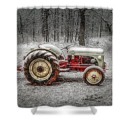 Tractor In The Snow Shower Curtain