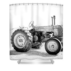 Shower Curtain featuring the photograph Tractor by Silvia Bruno