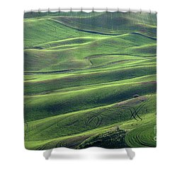 Tractor Tracks Agriculture Art By Kaylyn Franks Shower Curtain