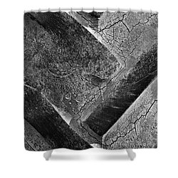Tractor Tread Two Shower Curtain