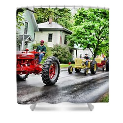Tractors On Parade Shower Curtain
