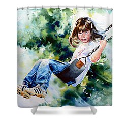 Shower Curtain featuring the painting Tracy by Hanne Lore Koehler
