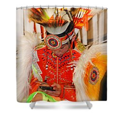 Tradition Meets Technology Shower Curtain