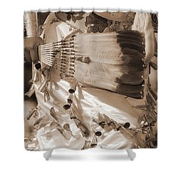 Shower Curtain featuring the photograph Traditional Dancer In Sepia by Heidi Hermes