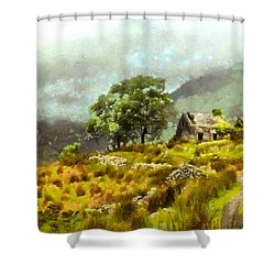 Traditional Ireland Shower Curtain by Mario Carini