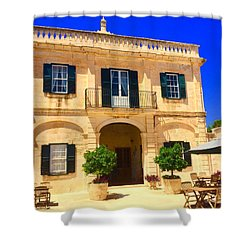 Traditional Menorcan Farmhouse Shower Curtain