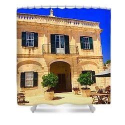 Traditional Menorcan Farmhouse Shower Curtain