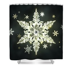 Traditional Sunlight Snowflakes Shower Curtain