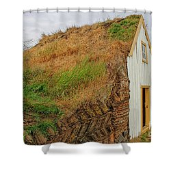 Traditional Turf Houses In Iceland Shower Curtain