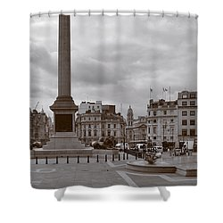Shower Curtain featuring the photograph Trafalgar Square Sunday Morning by Nop Briex