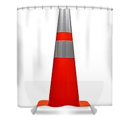 Traffic Cone Shower Curtain