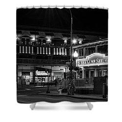 Traffic Light No 8 Gatlinburg In Black And White Shower Curtain