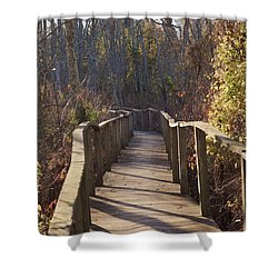 Trail Bridge Shower Curtain