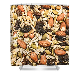 Shower Curtain featuring the photograph Trail Mix Background by Jorgo Photography - Wall Art Gallery